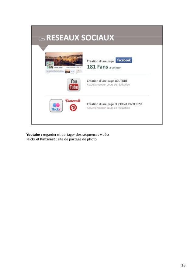Youtube : regarder et partager des séquences vidéo. Flickr et Pinterest : site de partage de photoFlickr et Pinterest : si...