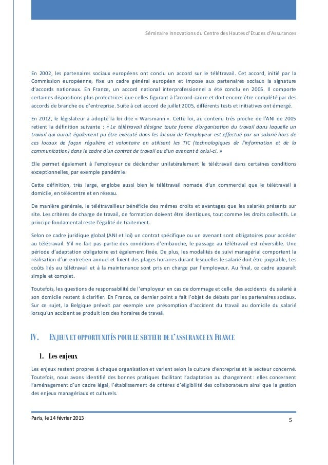 Séminaire Innovations du Centre des Hautes d'Etudes d'Assurances Paris, le 14 février 2013 5 En 2002, les partenaires soci...