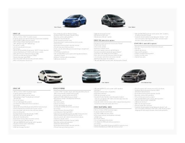 2013 honda civic coupe brochure