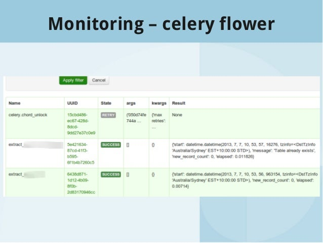 Building data flows with Celery and SQLAlchemy