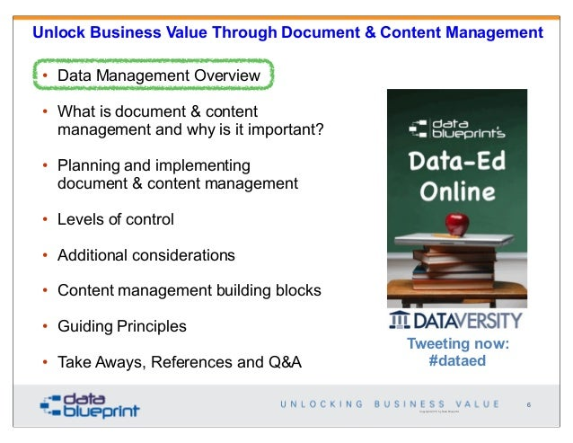 Data ed unlock business value through document content management 6 unlock business value through document content management malvernweather Image collections