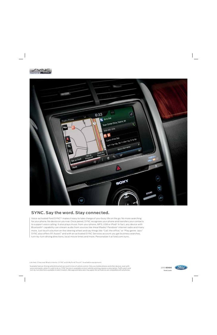 2013 Ford Edge Sony Wiring Harness Fordcom 5