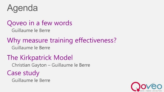 Evaluate Training Effectiveness - Master Class Elearn Expo 2013 Slide 2