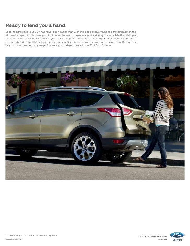 2013 Ford Escape Brochure
