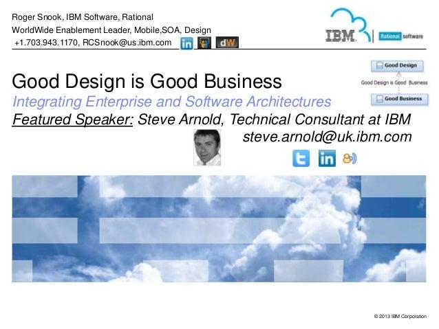 Roger Snook, IBM Software, Rational WorldWide Enablement Leader, Mobile,SOA, Design +1.703.943.1170, RCSnook@us.ibm.com  G...