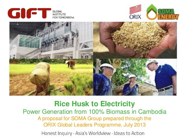 Click to edit Master title style Rice to edit Master title style Husk to Electricity Click  Power Generation from 100% Bio...