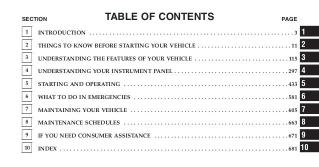 2013 Jeep Grand Cherokee Owners Manual  Courtesy Of The