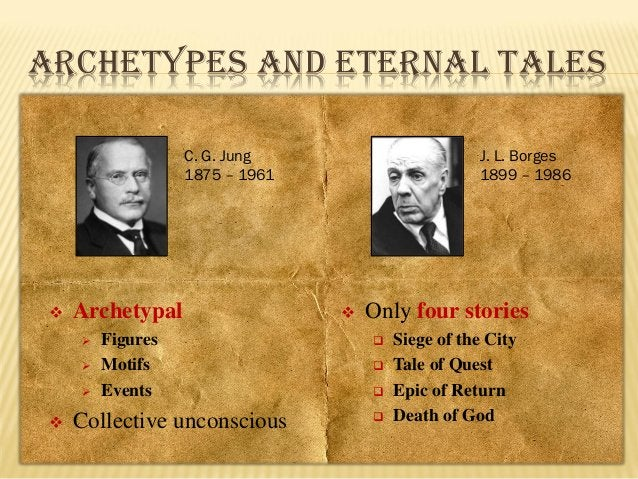 ARCHETYPES AND ETERNAL TALES C. G. Jung 1875 – 1961    Archetypal        Figures Motifs Events  Collective unconsciou...