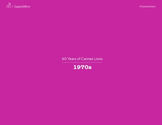 The third of six 2013 Cannes Lions and SapientNitro infographics