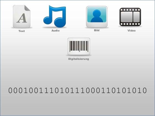 Text  Bild  Audio  Video  Digitalisierung  Computer  Block  Telefon  Kamera  TV