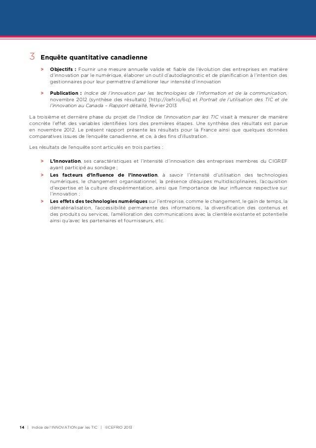 3   Enquête quantitative canadienne     >      Objectifs : Fournir une mesure annuelle valide et fiable de l'évolution ...