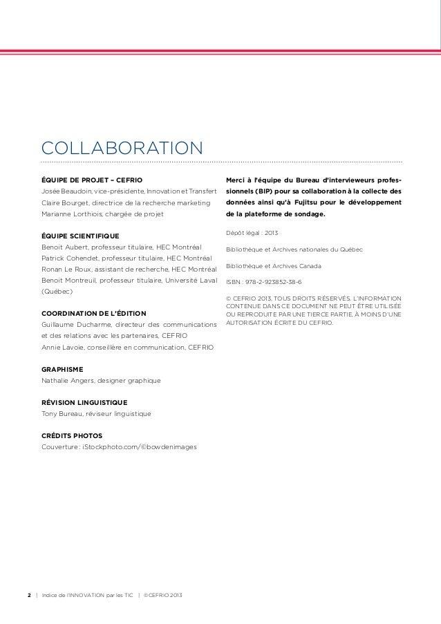 En association avec le CEFRIO et HEC Montréal, le CIGREF délivre les résultats exclusifs d'une enquête menée au sein de son réseau sur « l'innovation par les usages et les technologies numériques. » Slide 2