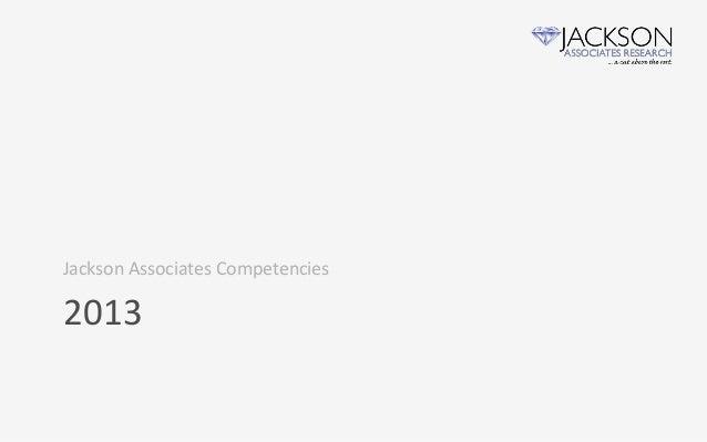 Jackson Associates Competencies2013