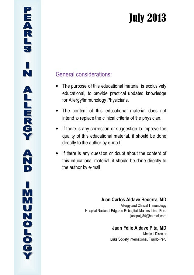 July 2013 General considerations: • The purpose of this educational material is exclusively educational, to provide practi...