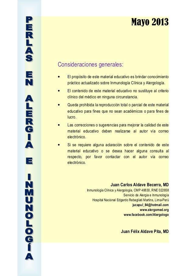 Mayo 2013Consideraciones generales:• El propósito de este material educativo es brindar conocimientopráctico actualizado s...