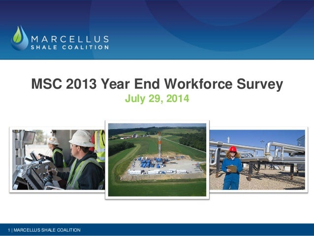 MSC 2013 Year End Workforce Survey July 29, 2014 1 | MARCELLUS SHALE COALITION
