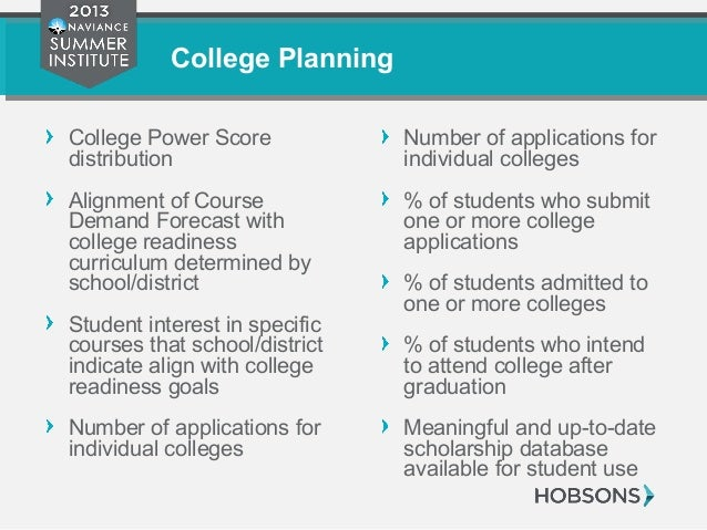 College Planning College Power Score distribution Alignment of Course Demand Forecast with college readiness curriculum de...