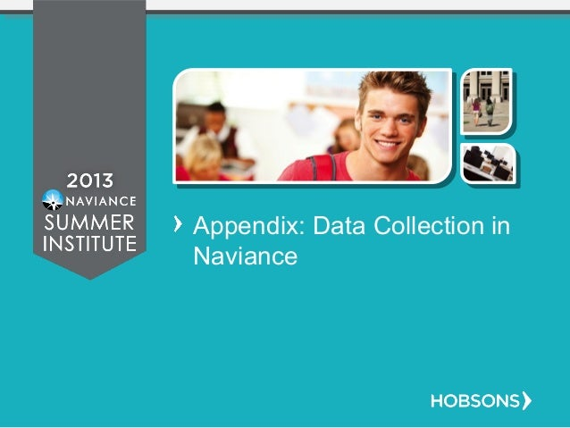 Appendix: Data Collection in Naviance