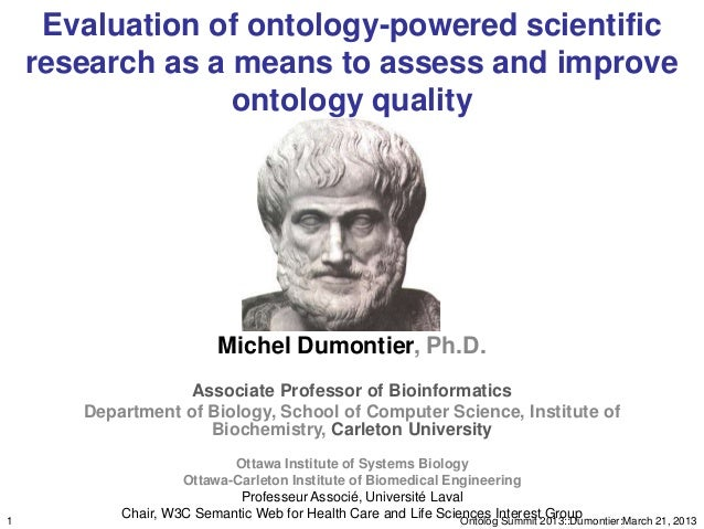 Evaluation of ontology-powered scientific    research as a means to assess and improve                  ontology quality  ...