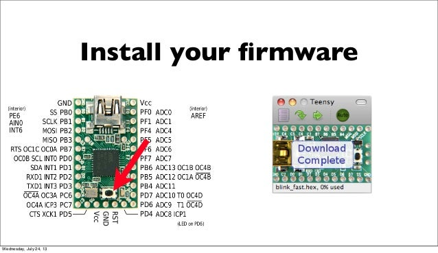Install your firmware Wednesday, July 24, 13