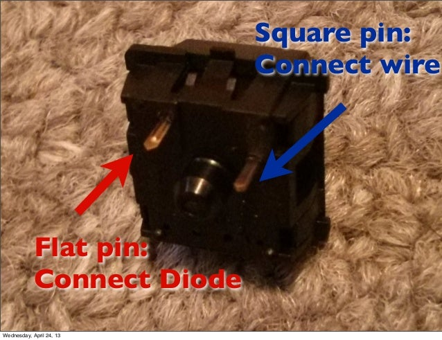 Flat pin:Connect DiodeSquare pin:Connect wireWednesday, April 24, 13