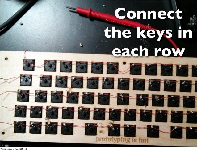 Connectthe keys ineach rowWednesday, April 24, 13