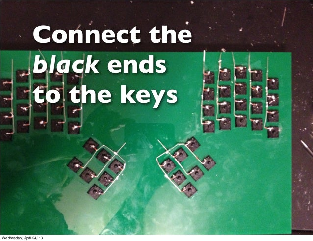 Connect theblack endsto the keysWednesday, April 24, 13