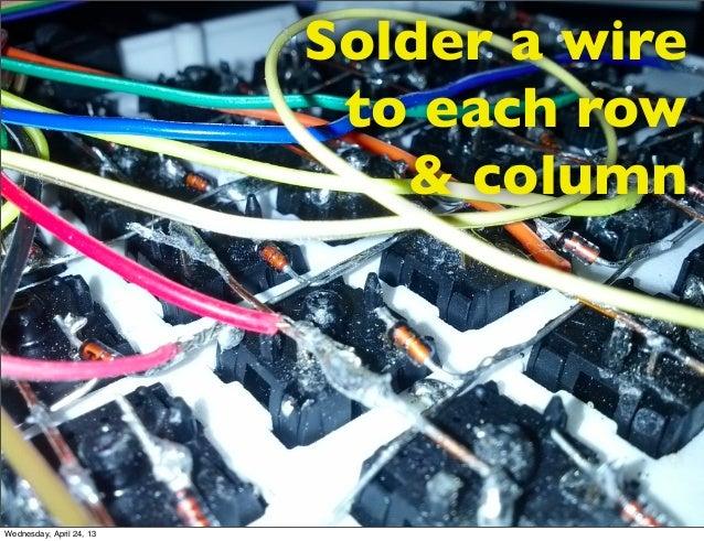 Solder a wireto each row& columnWednesday, April 24, 13