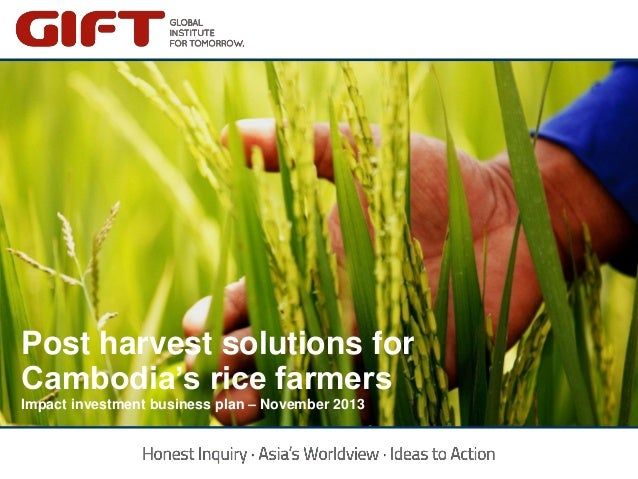 Click to edit Master title style  Post harvest solutions for Click to Cambodia's riceedit Master title style farmers Impac...