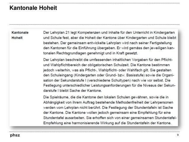 Kantonale Hoheit  9