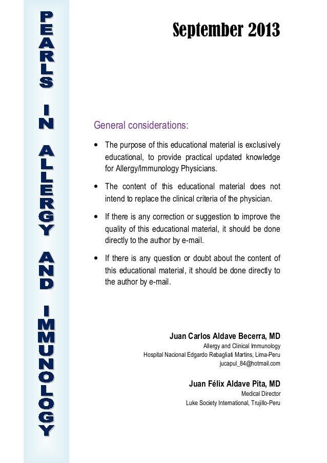 September 2013 General considerations: • The purpose of this educational material is exclusively educational, to provide p...