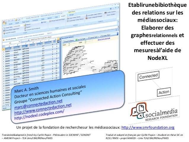 Etablirunebibiothèque des relations sur les médiassociaux: Elaborer des graphesrelationnels et effectuer des mesuresàl'aid...