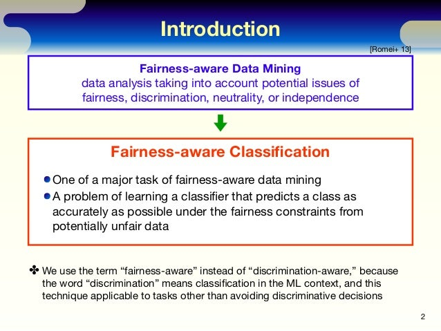 The Independence of Fairness-aware Classifiers Slide 2