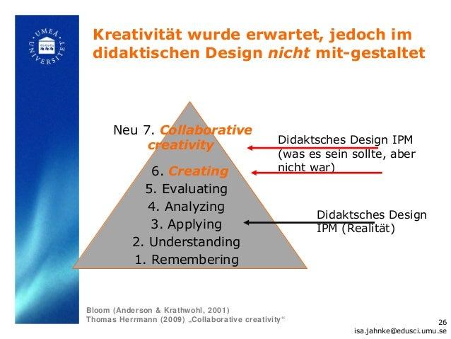 Kreativität wurde erwartet, jedoch im didaktischen Design nicht mit-gestaltet      Neu 7. Collaborative                   ...