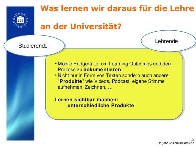 Was lernen wir daraus für die Lehre        an der Universität?                                                         Leh...