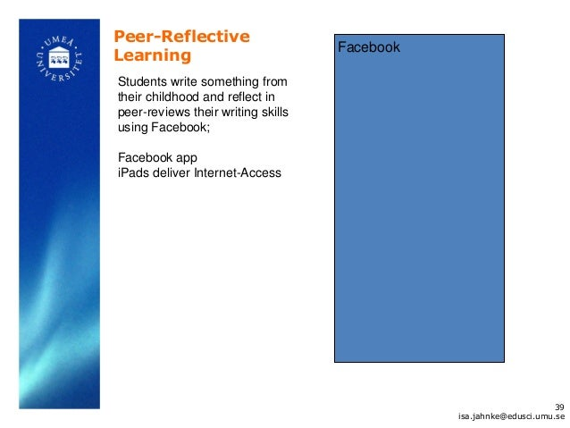 Peer-Reflective                                    FacebookLearningStudents write something fromtheir childhood and reflec...