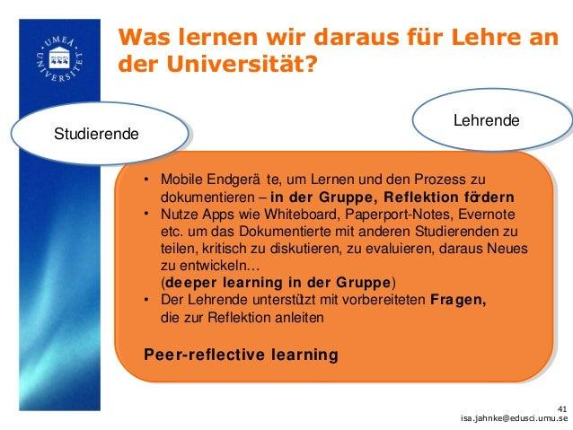 Was lernen wir daraus für Lehre an        der Universität?                                                               L...