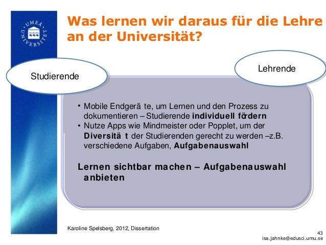 Was lernen wir daraus für die Lehre        an der Universität?                                                           L...