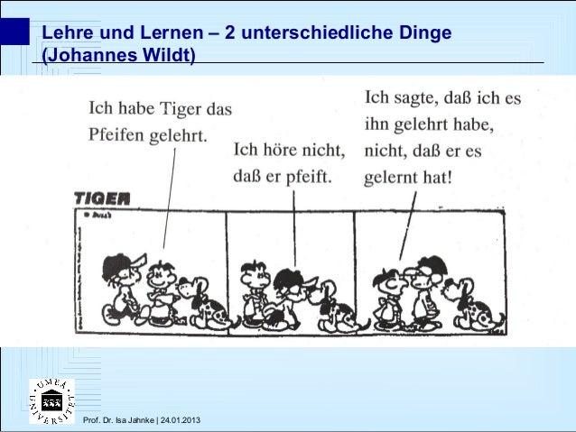 Lehre und Lernen – 2 unterschiedliche Dinge(Johannes Wildt)    Prof. Dr. Isa Jahnke | 24.01.2013