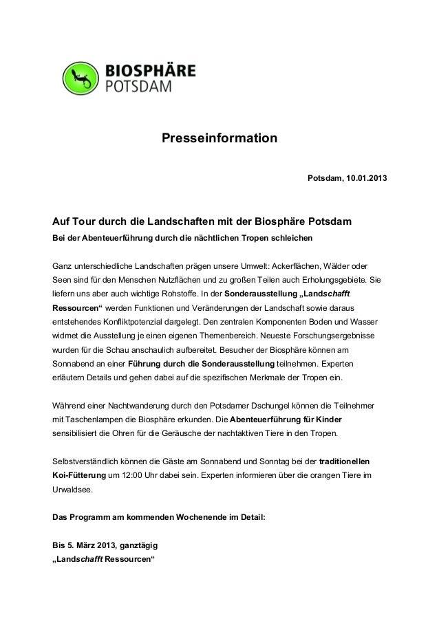Presseinformation                                                                       Potsdam, 10.01.2013Auf Tour durch ...