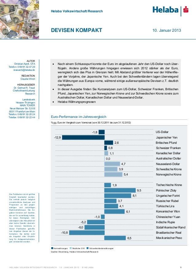 Helaba Volkswirtschaft/Research                                  DEVISEN KOMPAKT                                          ...