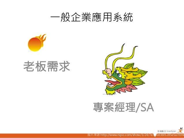 一般企業應用系統老板需求            專案經理/SA                                                  悠識數位 UserXper         图片来源 http://www.ni...