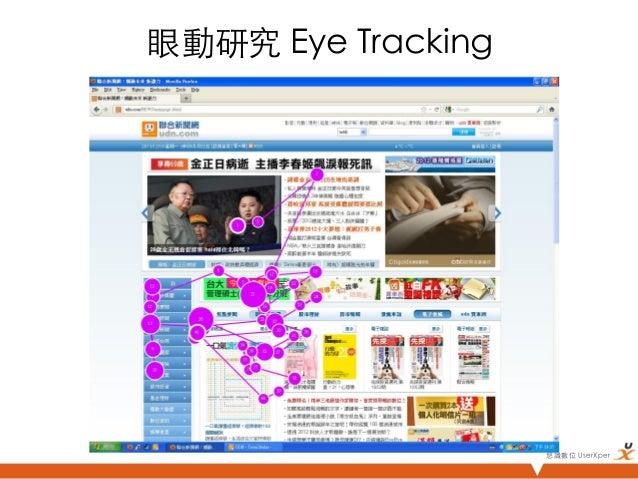眼動研究 Eye Tracking                      悠識數位 UserXper