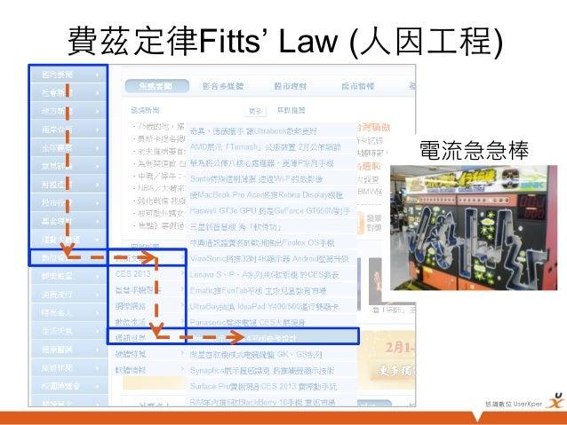 費茲定律Fitts' Law (人因工程)                  電流急急棒                     悠識數位 UserXper