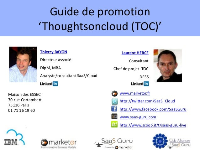Guide de promotion               'Thoughtsoncloud (TOC)'                Thierry BAYON                        Laurent HERCE...