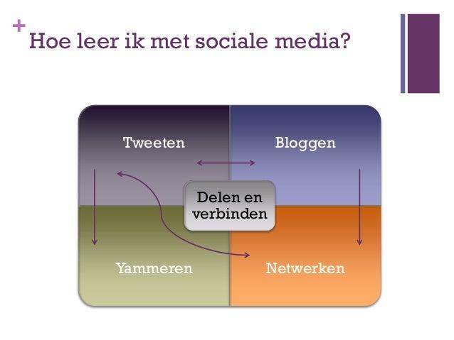 +    Leren met sociale media    vraagt om een investering