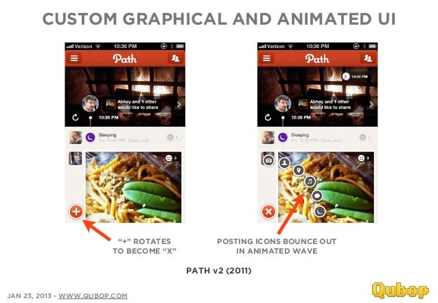 """CUSTOM GRAPHICAL AND ANIMATED UI                         """"+"""" ROTATES          POSTING ICONS BOUNCE OUT                    ..."""
