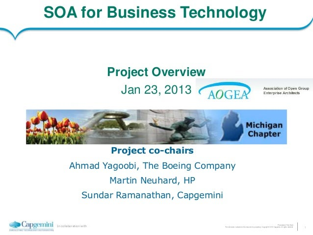 SOA for Business Technology                         Project Overview                           Jan 23, 2013               ...