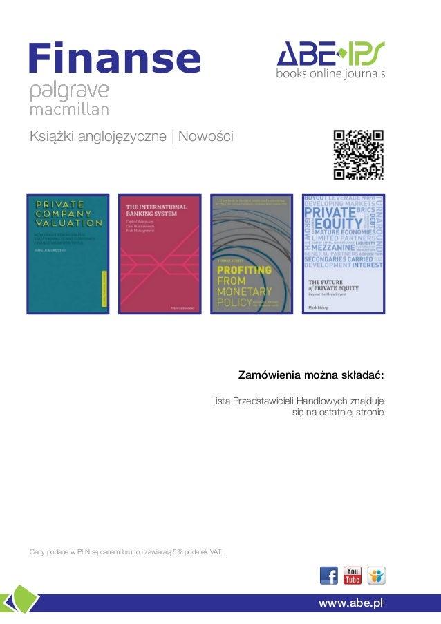FinanseKsiążki anglojęzyczne | Nowości                                                                 Zamówienia można sk...