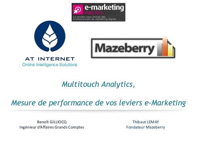 Online Intelligence Solutions                        Multitouch Analytics,Mesure de performance de vos leviers e-Marketing...